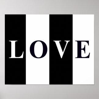 LOVE IN BLACK & WHITE Wall Room Print Decor