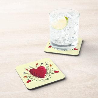 Love in Bloom Beverage Coaster