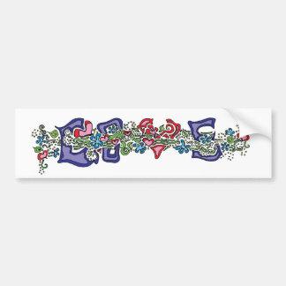 Love in Bloom Car Bumper Sticker
