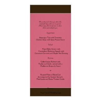 Love in Bloom: Chocolate Brown Wedding Menu