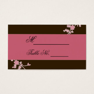 Love in Bloom: Chocolate Brown Wedding Place Card