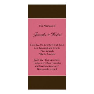 Love in Bloom: Chocolate Brown Wedding Program