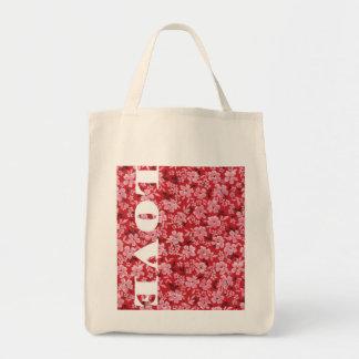 Love in Bloom Grocery Tote Bag