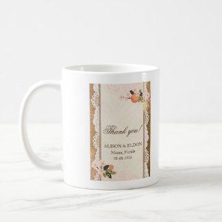 Love in Bloom – Lace & Burlap Coffee Mug
