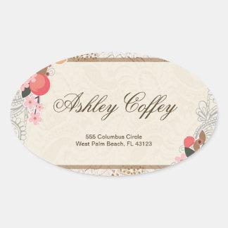 Love in Bloom – Lace & Burlap Oval Sticker