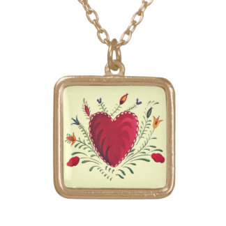 Love in Bloom Square Pendant Necklace