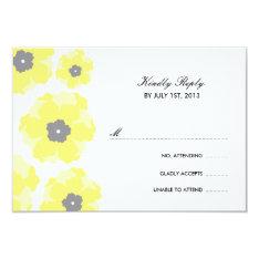 "Love in Bloom RSVP Cards 3.5"" X 5"" Invitation Card at Zazzle"