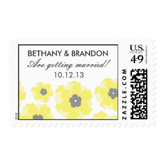 Love in Bloom Wedding Postage Stamps