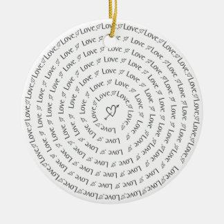 Love in Circles Ceramic Ornament