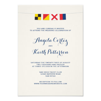 LOVE in Colorful Nautical Signal Flags Card