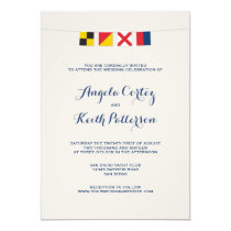 LOVE in Colorful Nautical Signal Flags Invitation