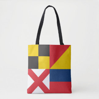 LOVE in Colorful Nautical Signal Flags Tote Bag