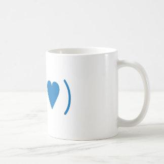 Love in Dark Blue Coffee Mug