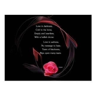 Love in Darkness Postcard