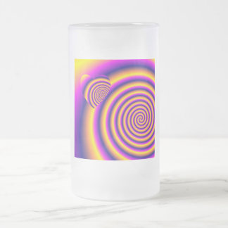 LOVE IN DISGUISE - Rainbow Spiral Frosted Glass Beer Mug