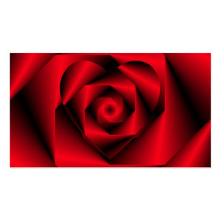 Love in Disguise - The Heart of a Rose Business Card
