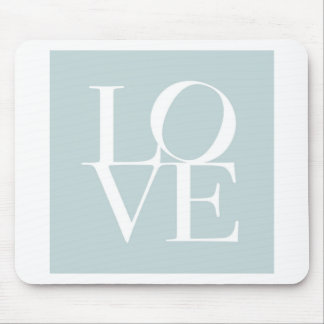 Love in Duck Egg Blue Mouse Pad