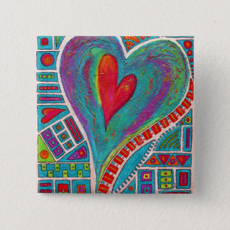 Love In Every Heart Art Pin