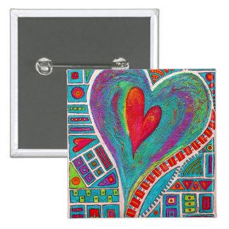 Love In Every Heart Art Pin