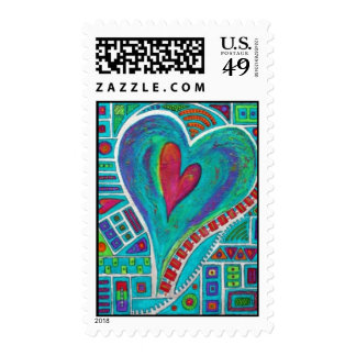 Love in Every Heart ~sg~ Postage Stamps