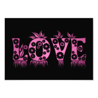 Love ( in flowers font ) card