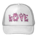 Love ( in flowers font ) hats