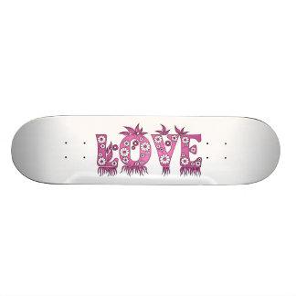 Love ( in flowers font ) skateboard deck