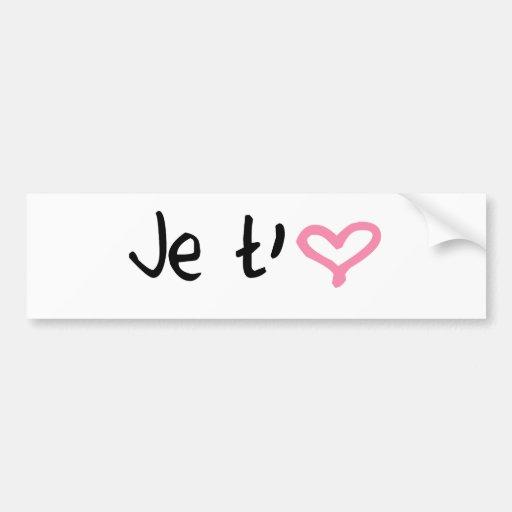 Love - in french bumper sticker