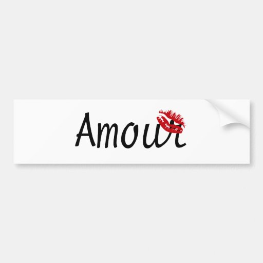 Love - in french bumper stickers