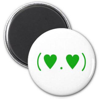 Love in Green 2 Inch Round Magnet