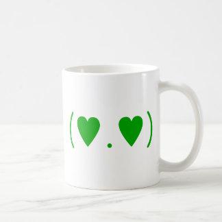 Love in Green Coffee Mug