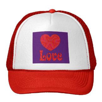Love in Groovy Swirls Cap Mesh Hat