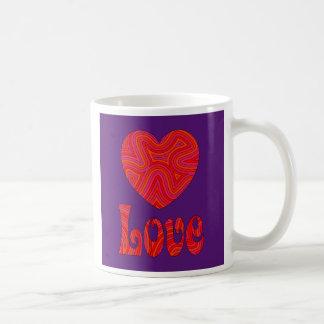 Love in Groovy Swirls Mug