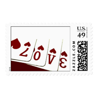 Love in Heart Playing Cards Stamp