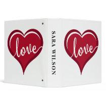 love in heart valentines binder