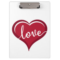 love in heart valentines clipboard