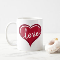 love in heart valentines coffee mug
