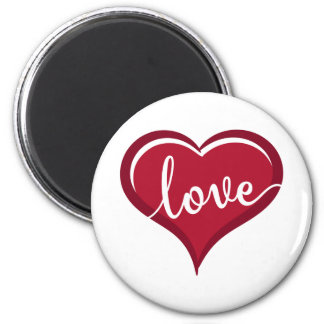 love in heart valentines magnet
