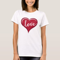 love in heart valentines T-Shirt