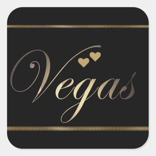 Love in Las Vegas Square Sticker