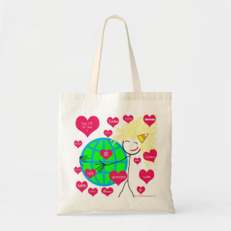 Love in many languages budget tote bag