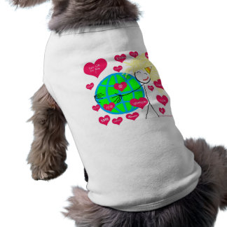 Love in many languages doggie tshirt