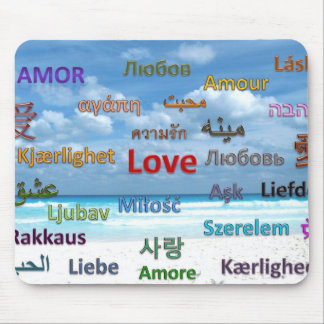 Love in Many Languages Mouse Pad
