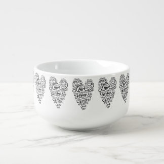 LOVE IN MANY LANGUAGES SOUP MUG