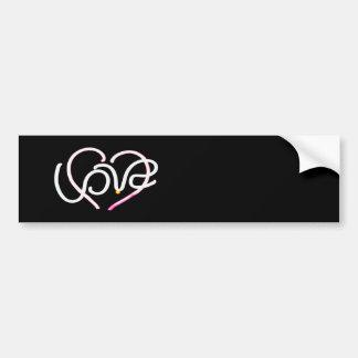 Love in Neon - Modern Romance Bumper Sticker