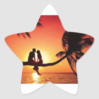 Love In Paradise Star Sticker
