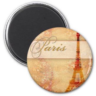 Love in Paris 2 Inch Round Magnet