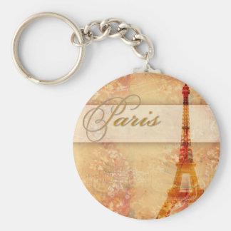 Love in Paris Basic Round Button Keychain