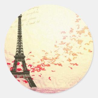 Love in Paris Classic Round Sticker