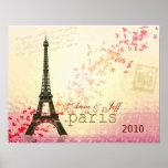 Love in Paris Eiffel Tower Print